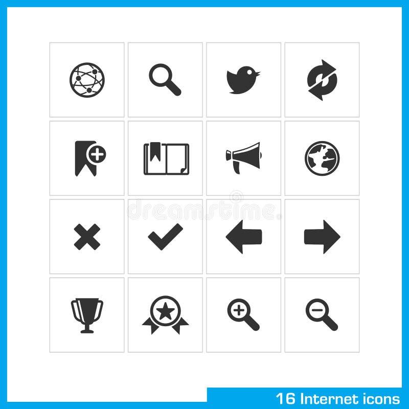 łatwy redaguje ustawiających ikona internety ilustracji