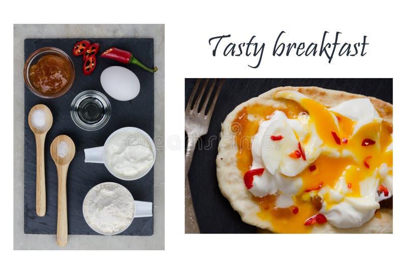 Łatwy smakowity śniadanie dla twój rodziny zdjęcie stock