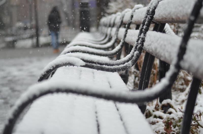 ława objętych śnieg obraz stock