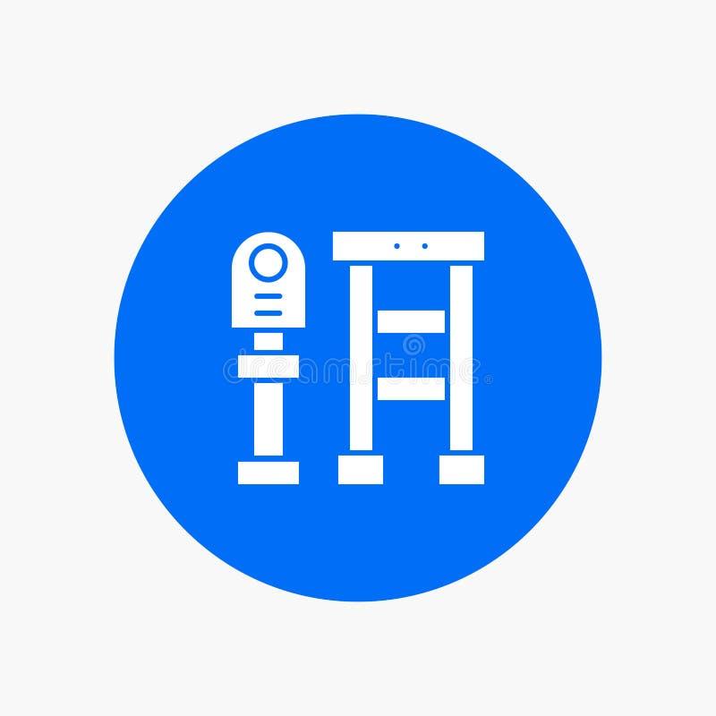 Ławka, autobus, stacja, przerwa ilustracja wektor