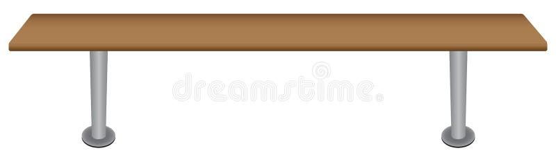 Ławka dla szatni royalty ilustracja
