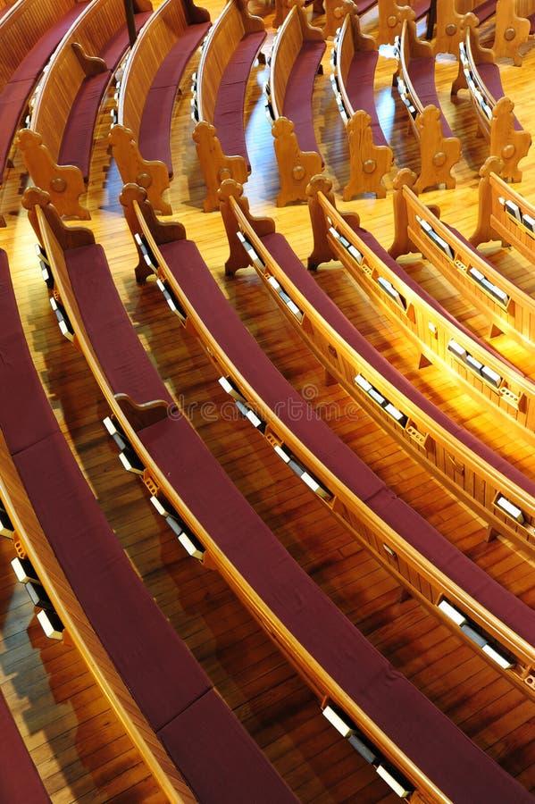 ławka kościół obrazy royalty free