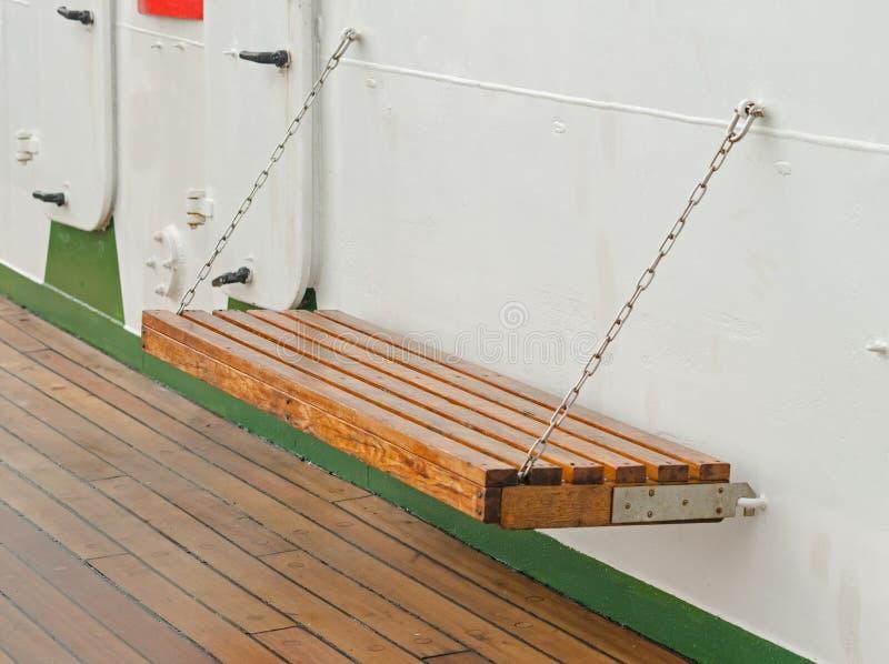 Ławka na ferryboat obraz stock