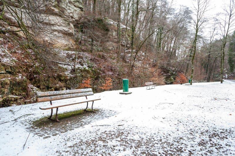 Ławka w śniegu zdjęcie royalty free