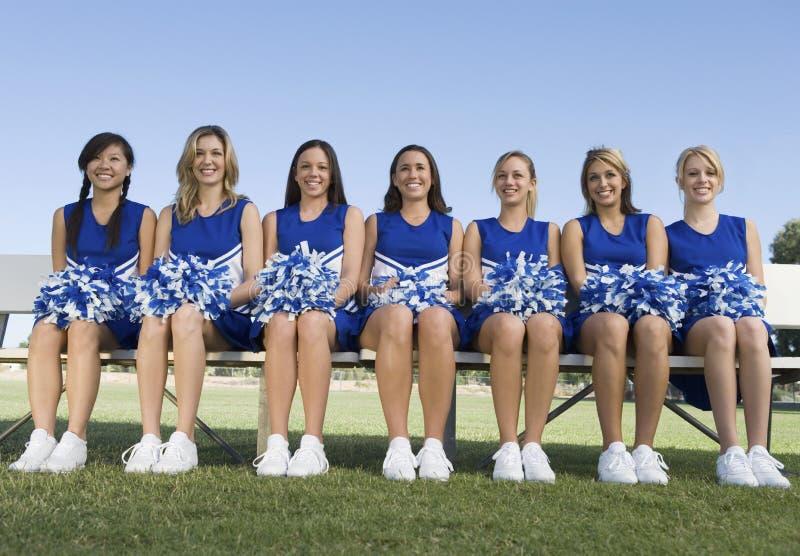 ławki cheerleaders target2280_1_ fotografia royalty free
