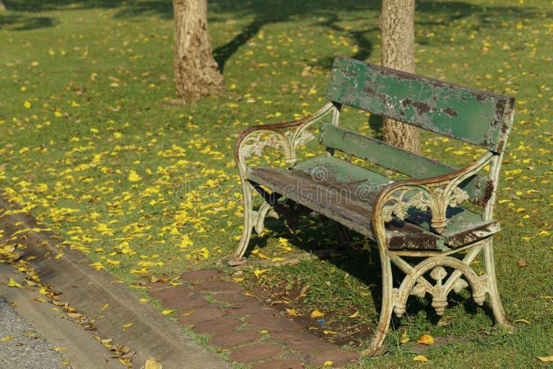 ławki drewniany parkowy obraz stock