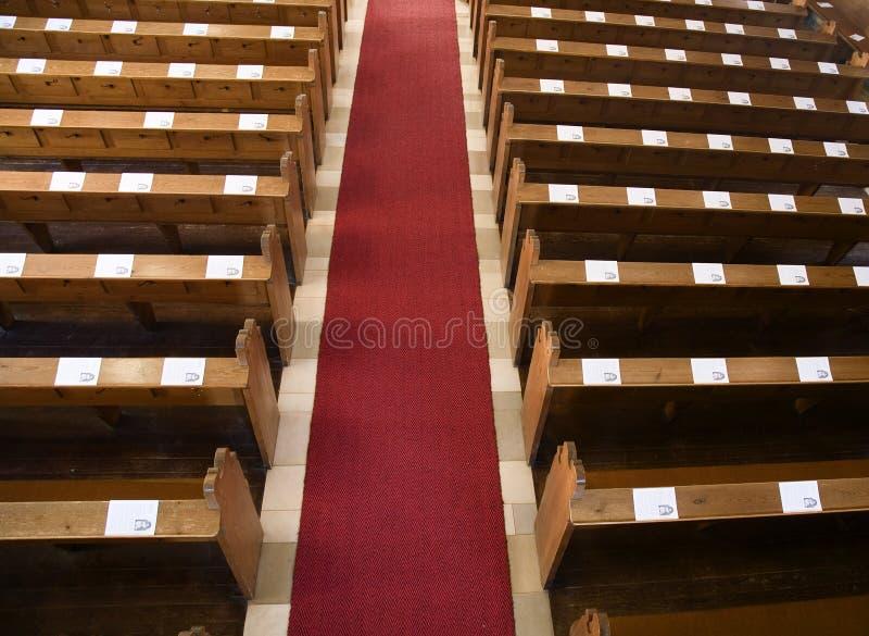 ławki kościelne obraz royalty free