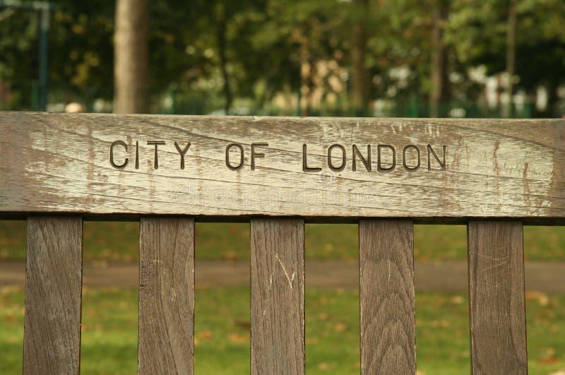 ławki London park zdjęcie stock