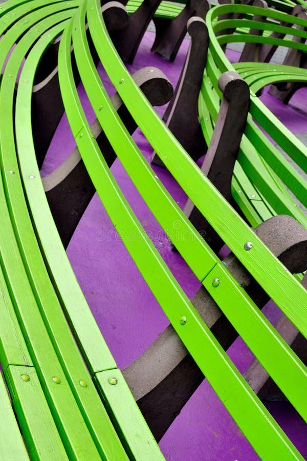 ławki miasta zieleń nowy parkowy York zdjęcie stock