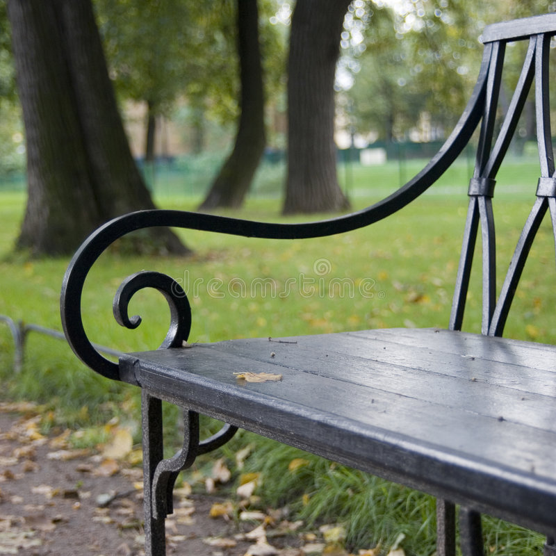 ławki parku zdjęcia royalty free