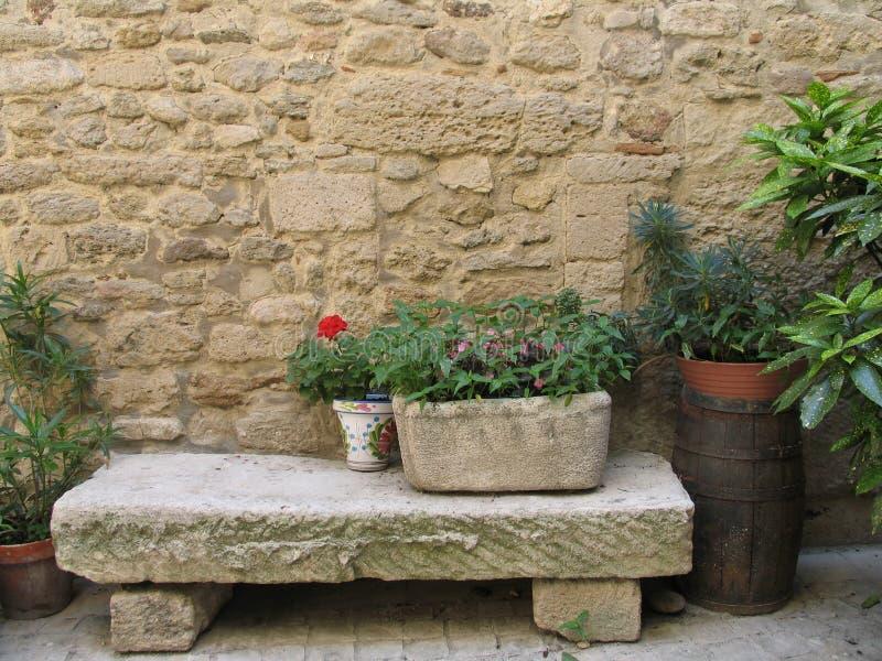 ławki patio obraz royalty free