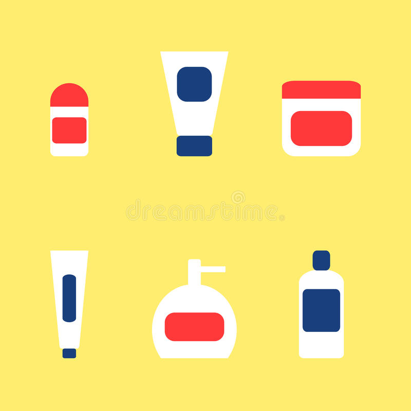 Download Łazienek Akcesoriów Elementów Ikony Ustawiać Pasta Do Zębów, Dezodorant, śmietanka, Mydło, Szampon Ilustracja Wektor - Ilustracja złożonej z butelka, opieka: 57671003