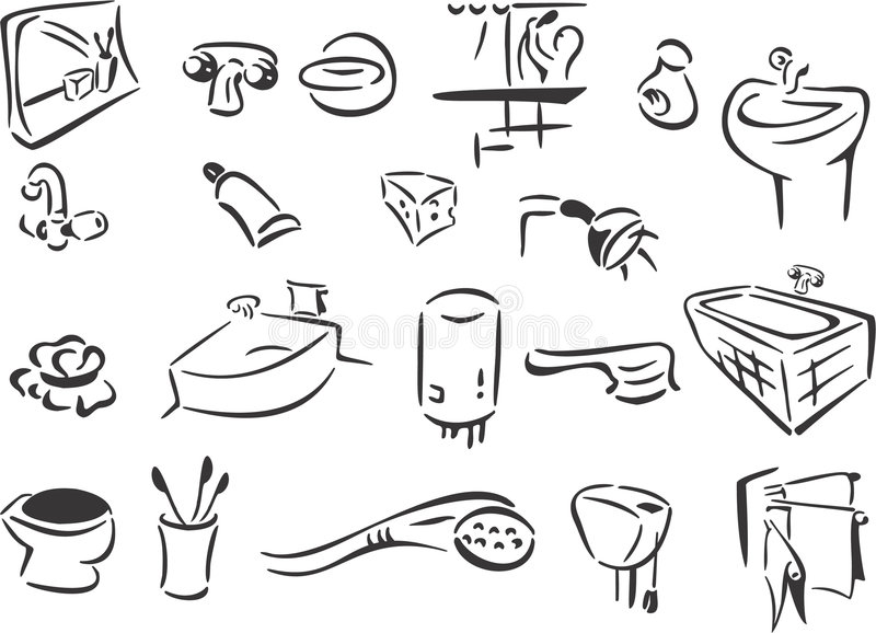łazienka royalty ilustracja