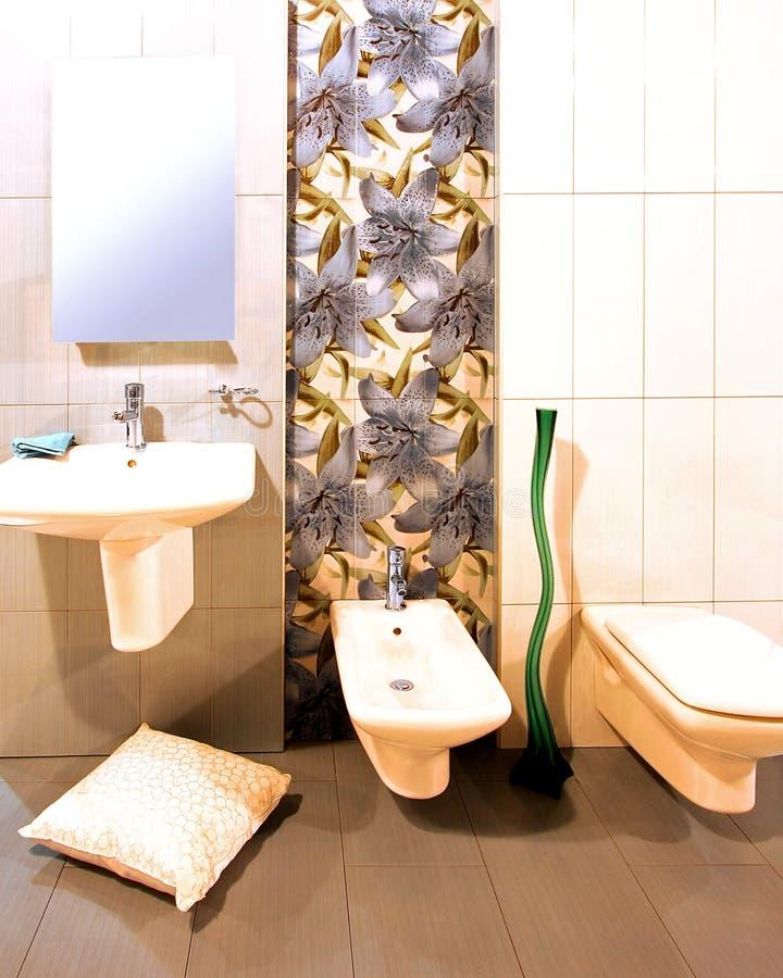 łazienka kwiecista obraz stock