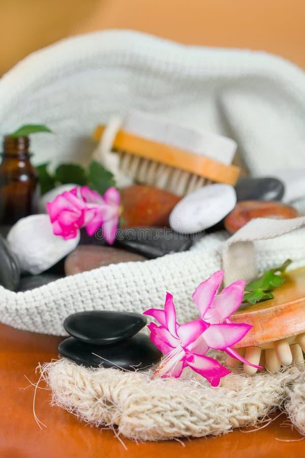 łazienka set dryluje wellness zdjęcia stock