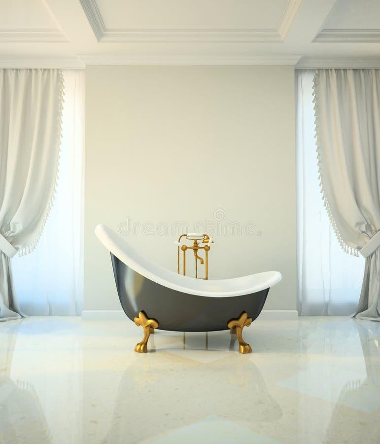 Łazienka w klasyka stylu ilustracji