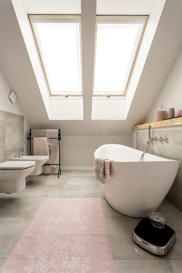 Łazienka z drogim spojrzeniem obrazy stock