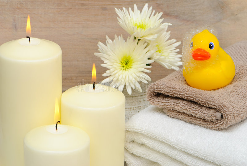 łazienki świeczek target2936_1_ obraz stock