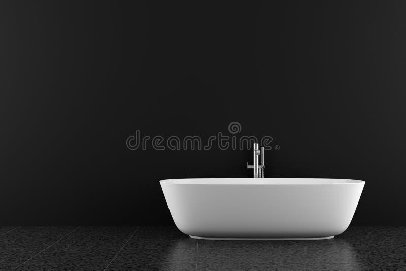 łazienki czerń podłoga nowożytna ilustracja wektor