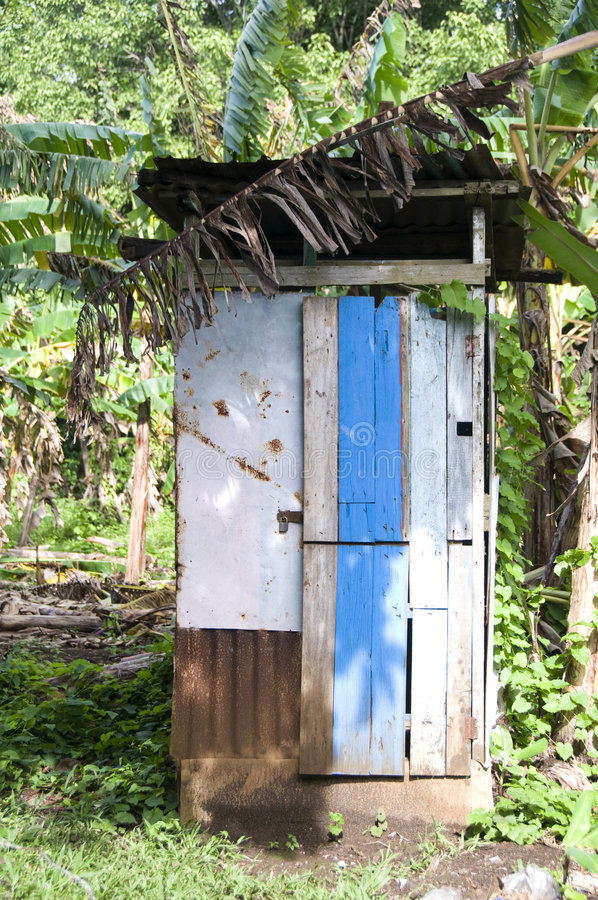 łazienki domowy Nicaragua outhouse toalety cynk obrazy royalty free