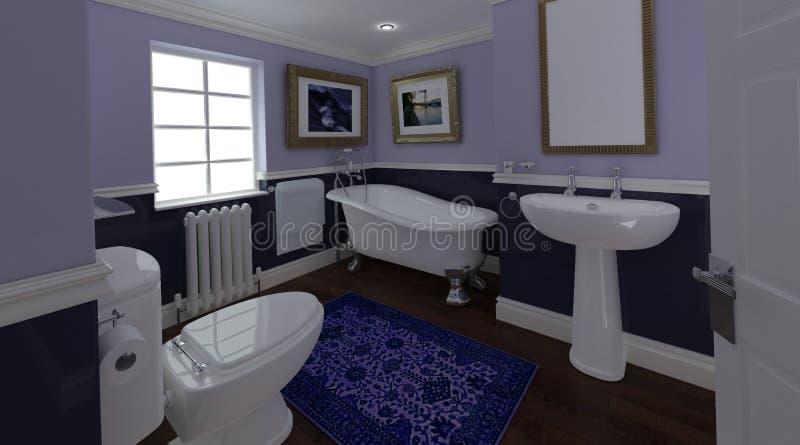 łazienki klasyka wnętrze ilustracji