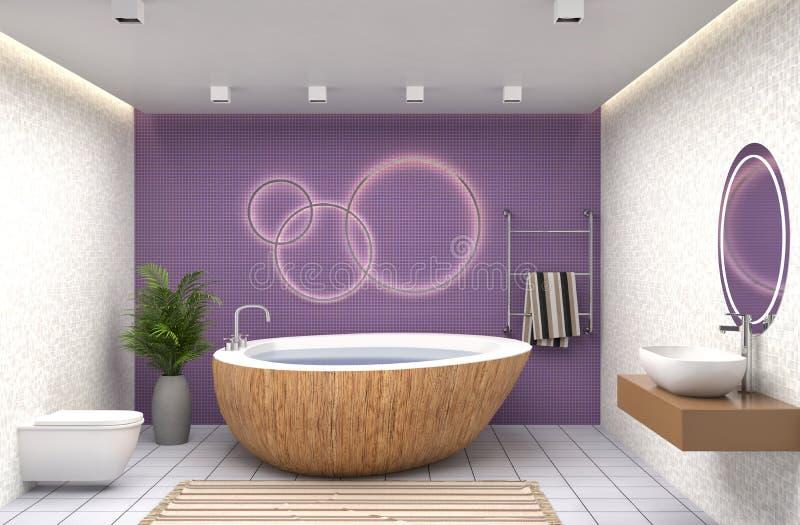łazienki pucharu wnętrza ręcznik ilustracja 3 d ilustracja wektor