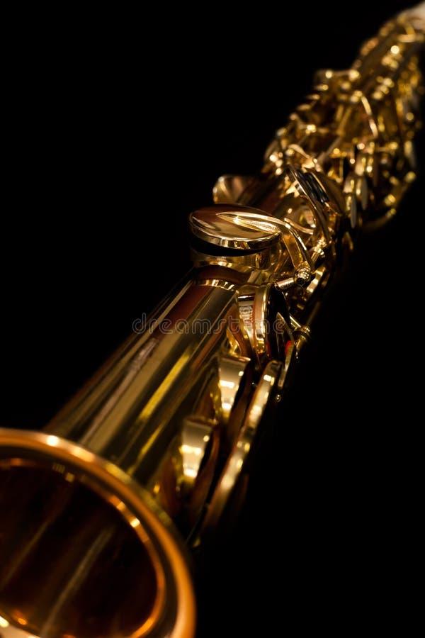 Łgarski sopranowy saksofonu zbliżenie obraz stock