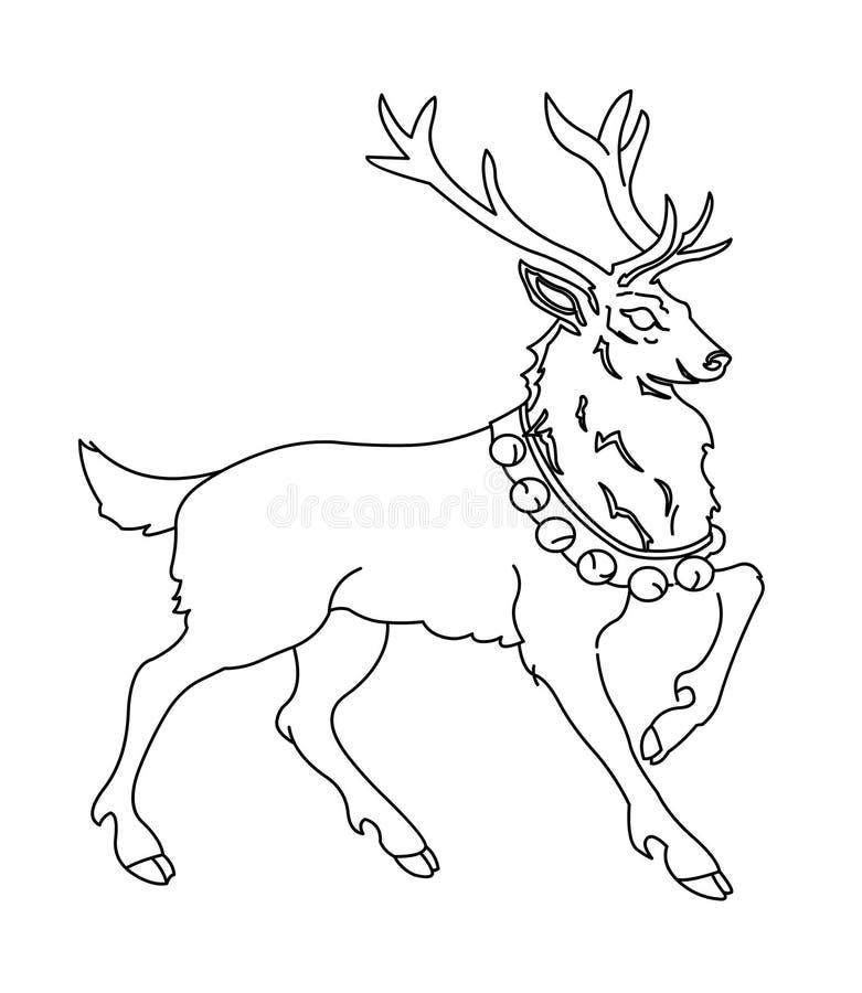 Łoś amerykański kolorystyki strona royalty ilustracja