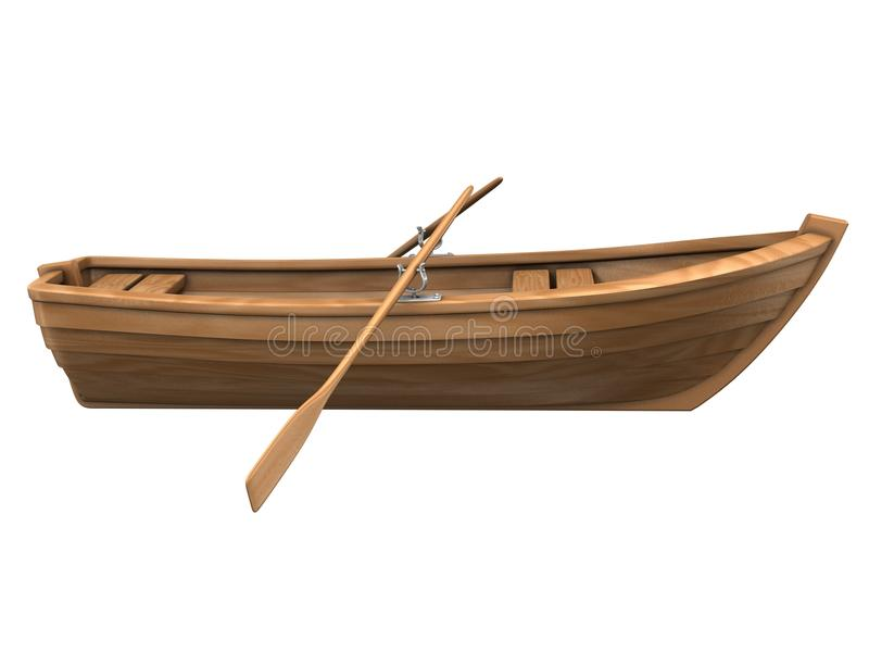 łodzi drewno odosobniony biały obraz royalty free