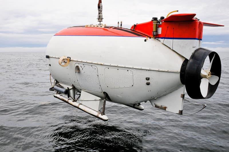 Łodzi podwodnej badać nawadnia zdjęcie stock