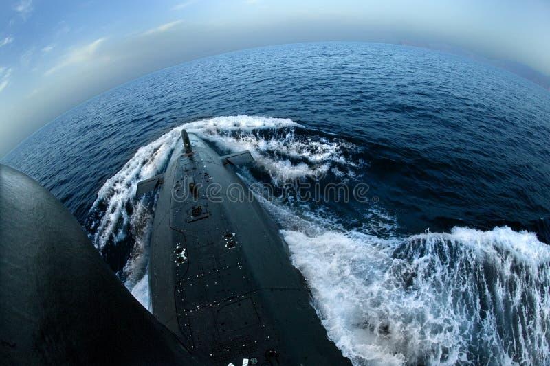 łodzi podwodnej powierzchnia fotografia stock