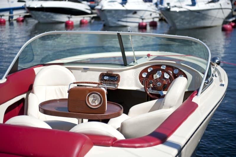 łodzi retro motorowy zdjęcie royalty free