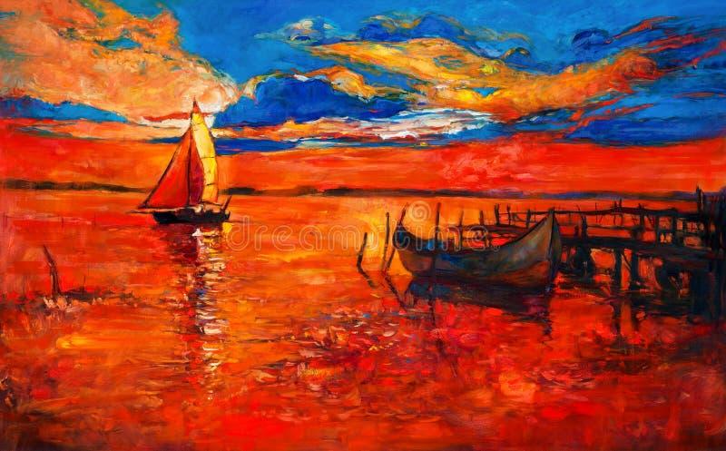 łodzie ilustracja wektor