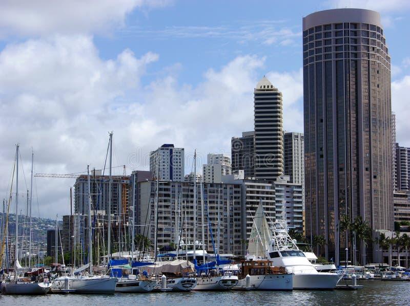 łodzie Honolulu. obraz royalty free