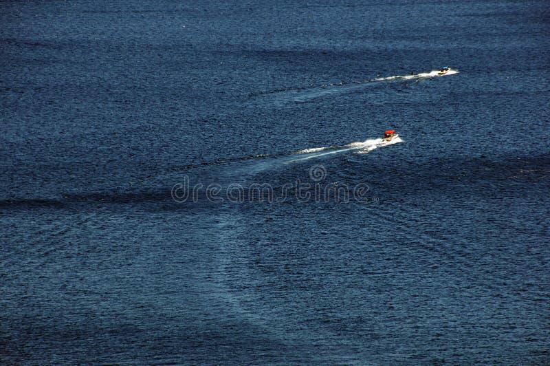 łodzie jeziorne zdjęcia stock