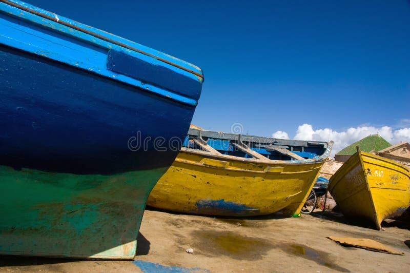 łodzie kolorowe obraz stock