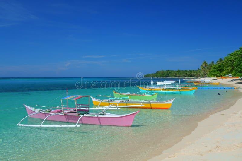 łodzie kolorowe obrazy stock