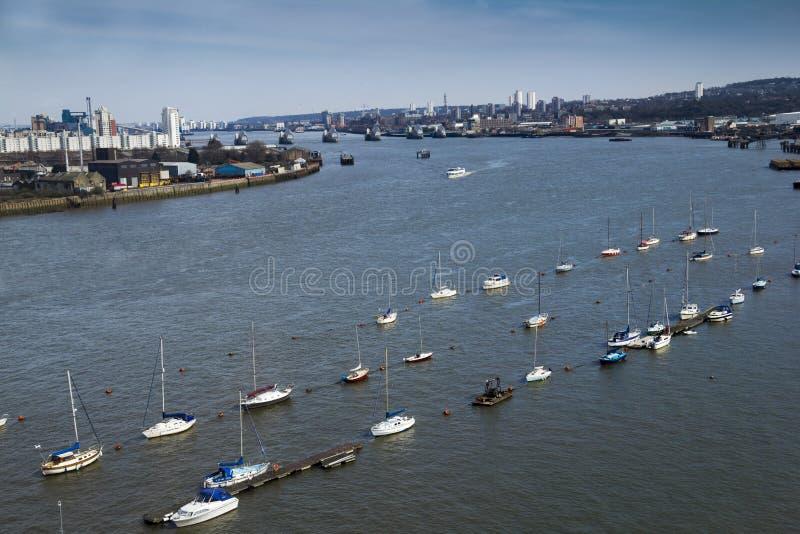 Łodzie na Thames zdjęcie stock