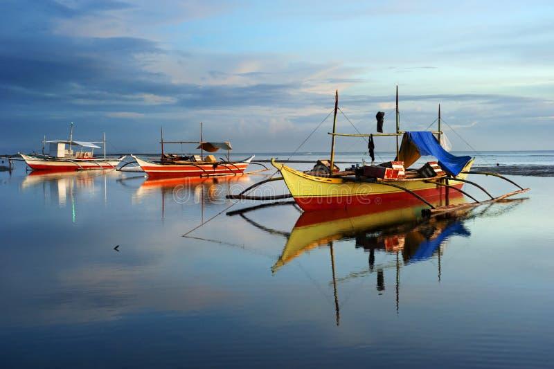 łodzie Philippines tradycyjni fotografia royalty free