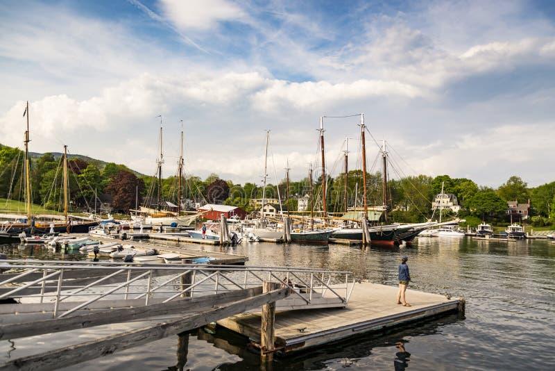 Łodzie przy dokiem w Camden, JA zdjęcie royalty free