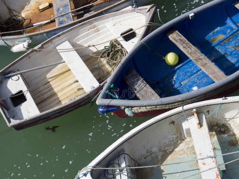 Łodzie rybackie, dingys/ zdjęcie royalty free