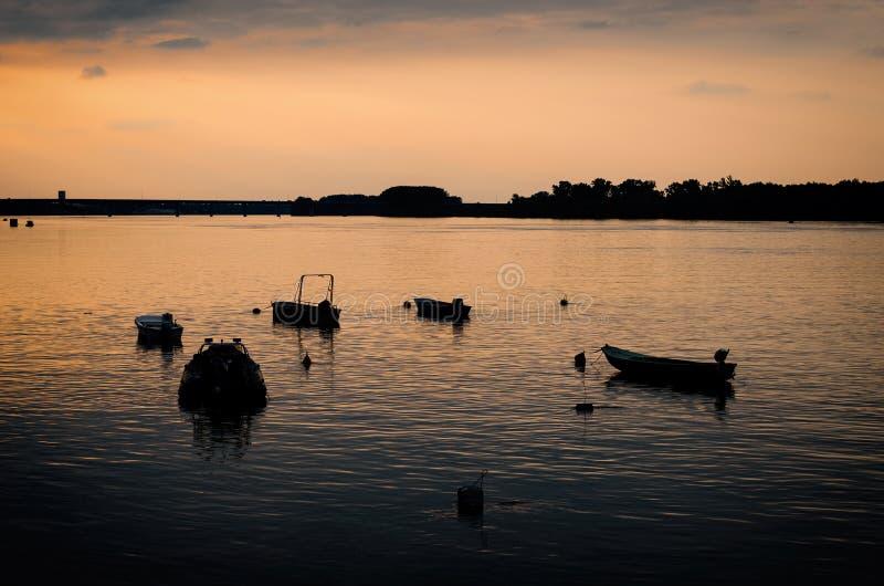 Łodzie rybackie na Danube zdjęcie stock