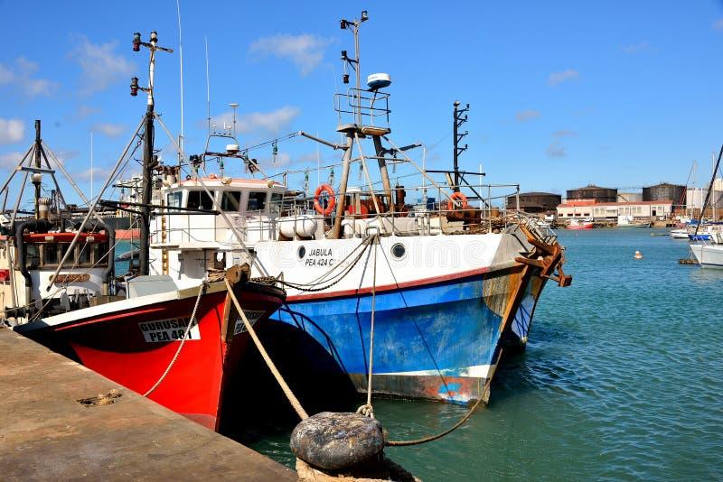 Łodzie Rybackie Port Elizabeth zdjęcia royalty free