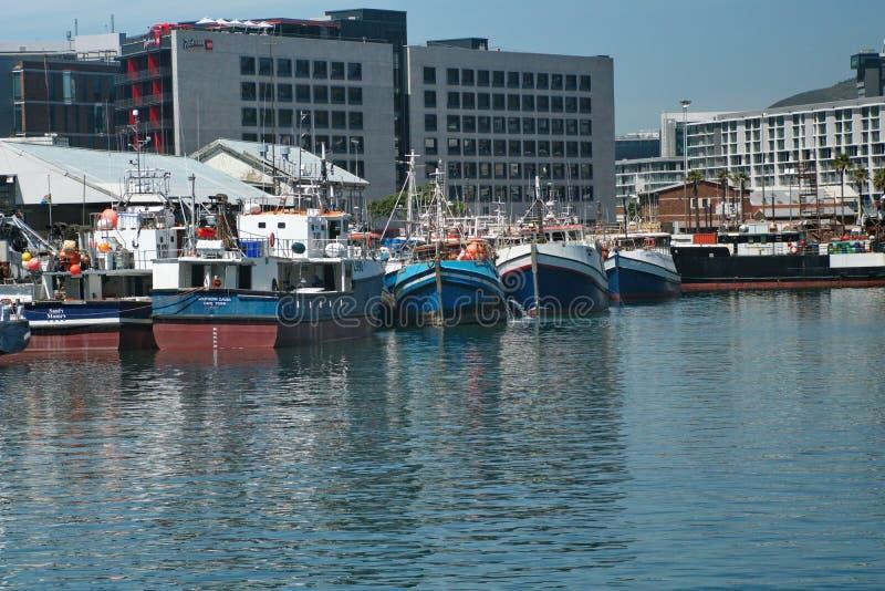 Łodzie rybackie V&A nabrzeże zdjęcie stock