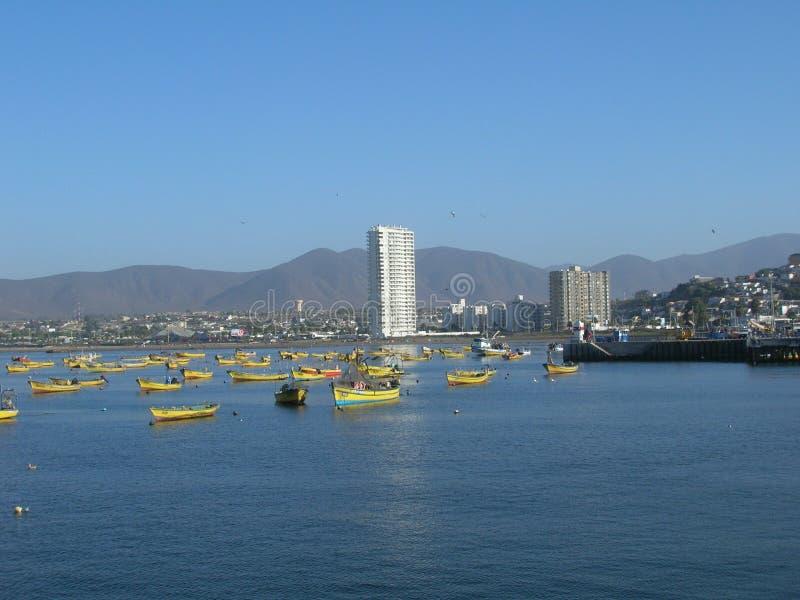 łodzie target761_1_ port fotografia stock