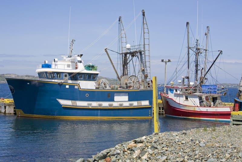 łodzie target2187_1_ Newfoundland fotografia stock