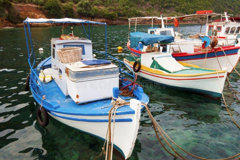 łodzie target623_1_ Greece obrazy stock