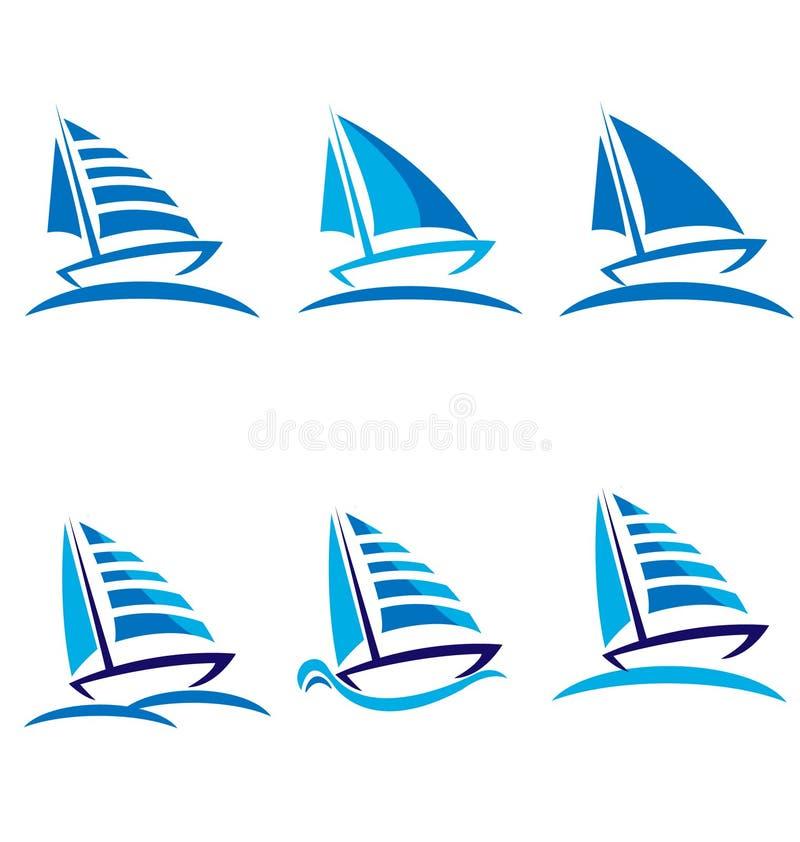 łodzie ustawiać ilustracji