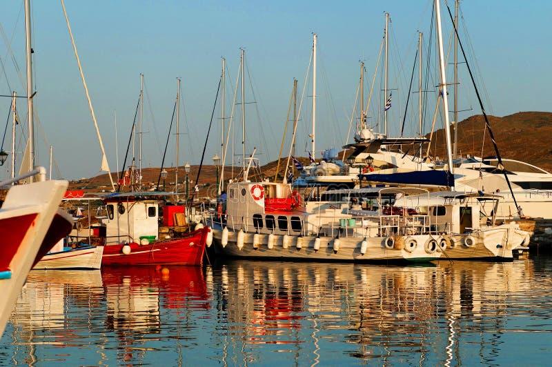 Łodzie w marina zdjęcie royalty free