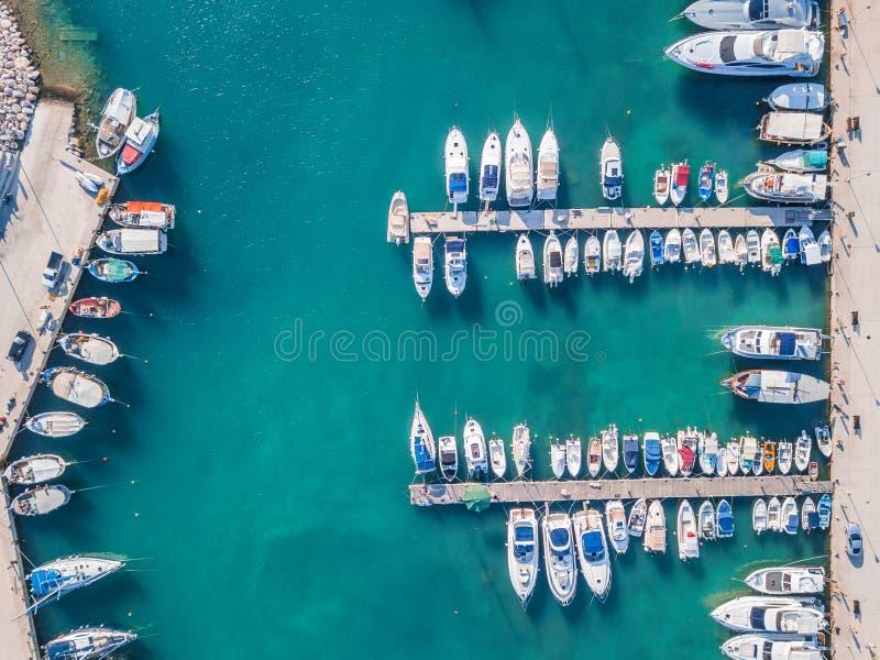 Łodzie w marina fotografia royalty free